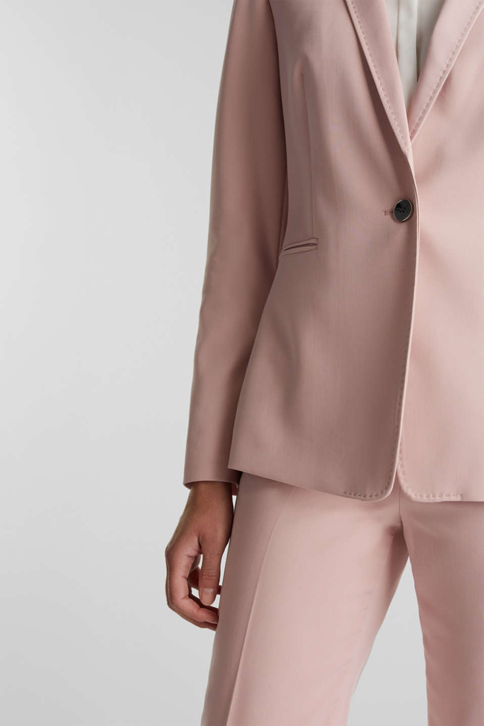 SPRING TWILL Mix + Match stretch blazer, OLD PINK, detail image number 1