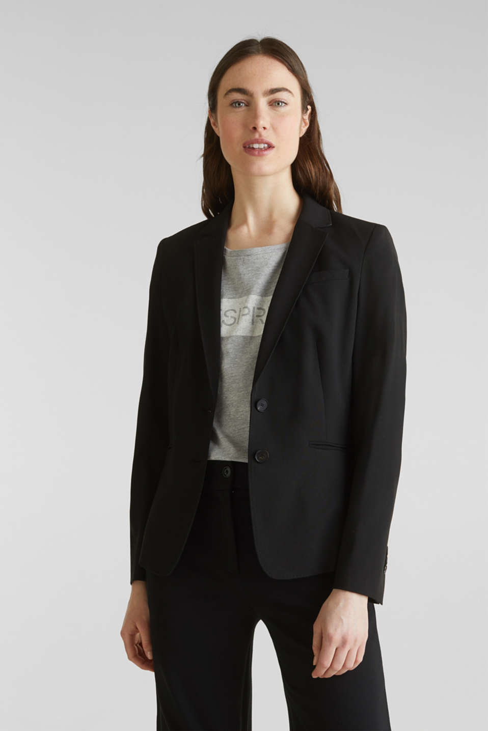 Esprit - PURE BUSINESS: blazer elástico mix + match