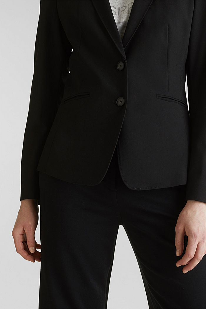 PURE BUSINESS mix + match blazer, BLACK, detail image number 2