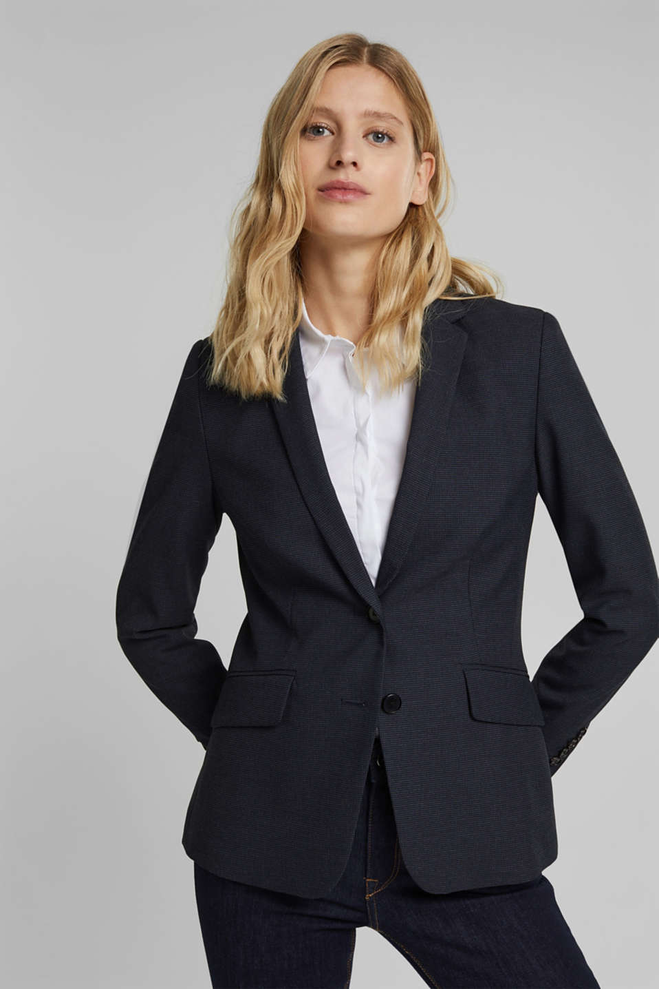 Esprit - Blazer stretch Mix + Match STRUCTURE