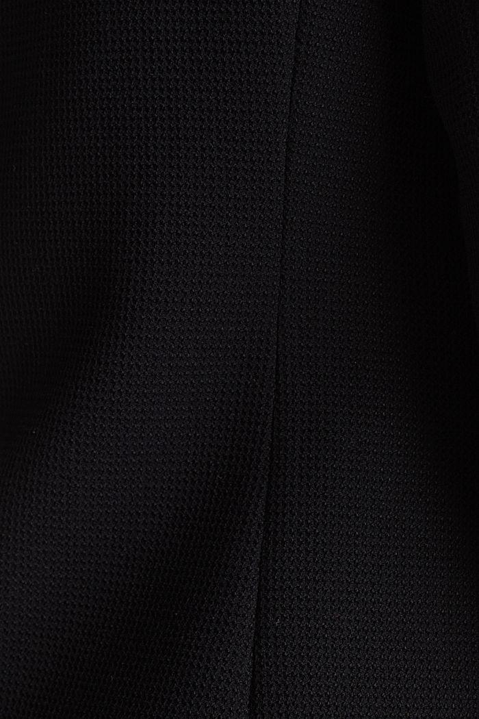 Taillierter Piqué-Stretch-Blazer, BLACK, detail image number 1