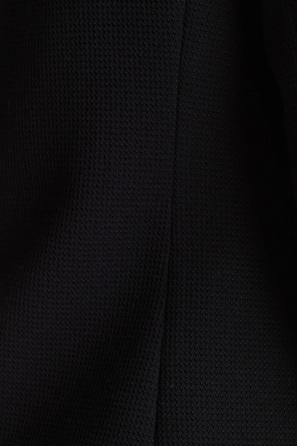 Fitted stretch piqué blazer, BLACK, detail image number 3