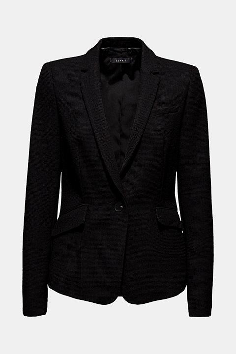 Fitted stretch piqué blazer