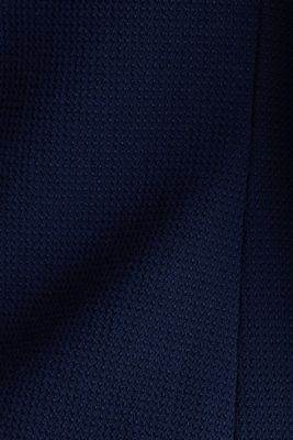 Fitted stretch piqué blazer, NAVY, detail