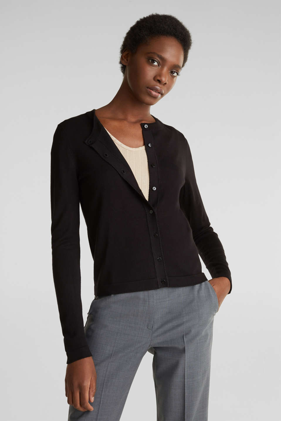 Esprit - Cardigan containing LENZING™ ECOVERO™