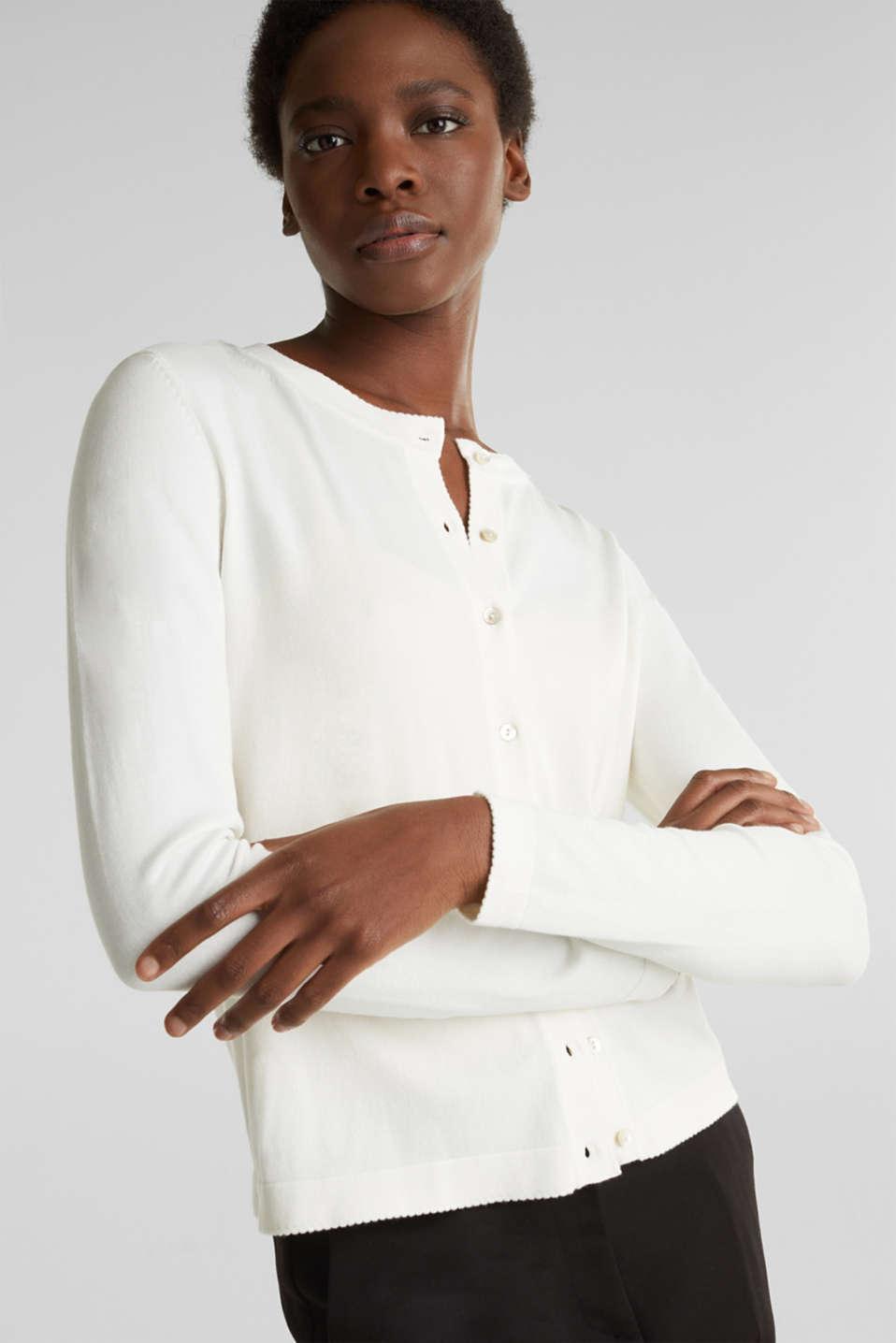 Cardigan containing LENZING™ ECOVERO™, OFF WHITE, detail image number 5