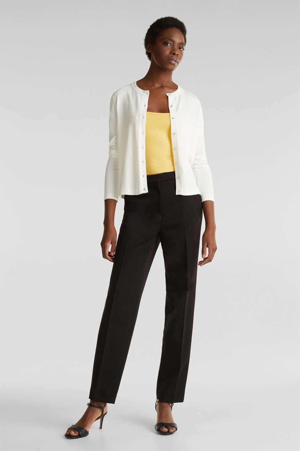 Cardigan containing LENZING™ ECOVERO™, OFF WHITE, detail image number 1