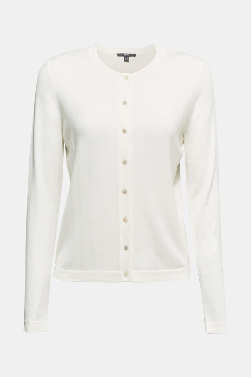 Cardigan containing LENZING™ ECOVERO™, OFF WHITE, detail image number 6