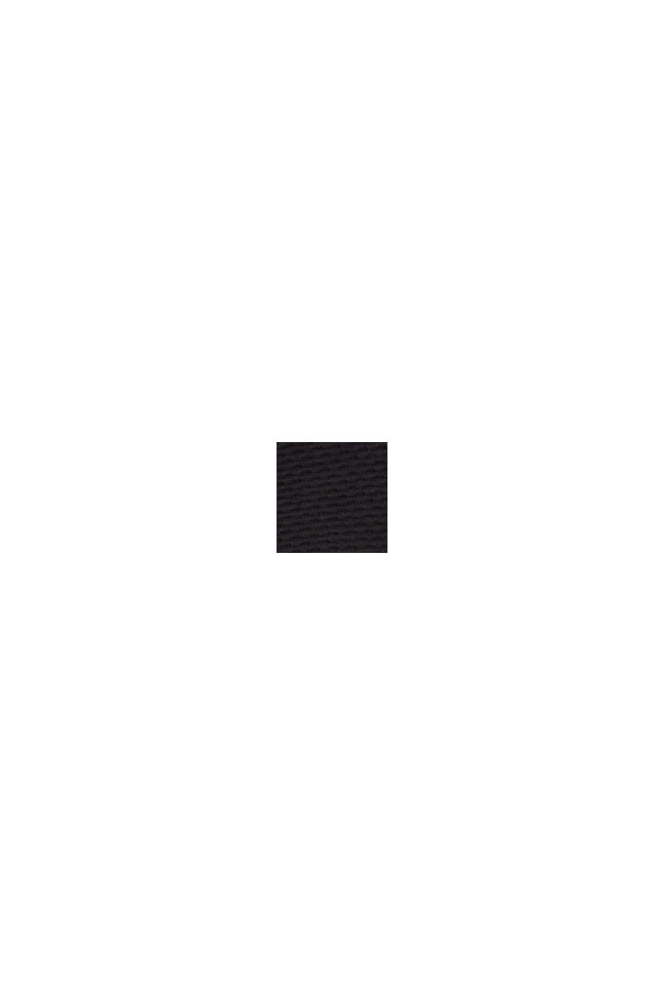 Struktur-Cardigan mit Schößchen, BLACK, swatch
