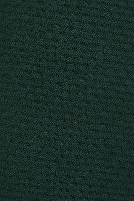 Textured cardigan with a peplum, BOTTLE GREEN, detail