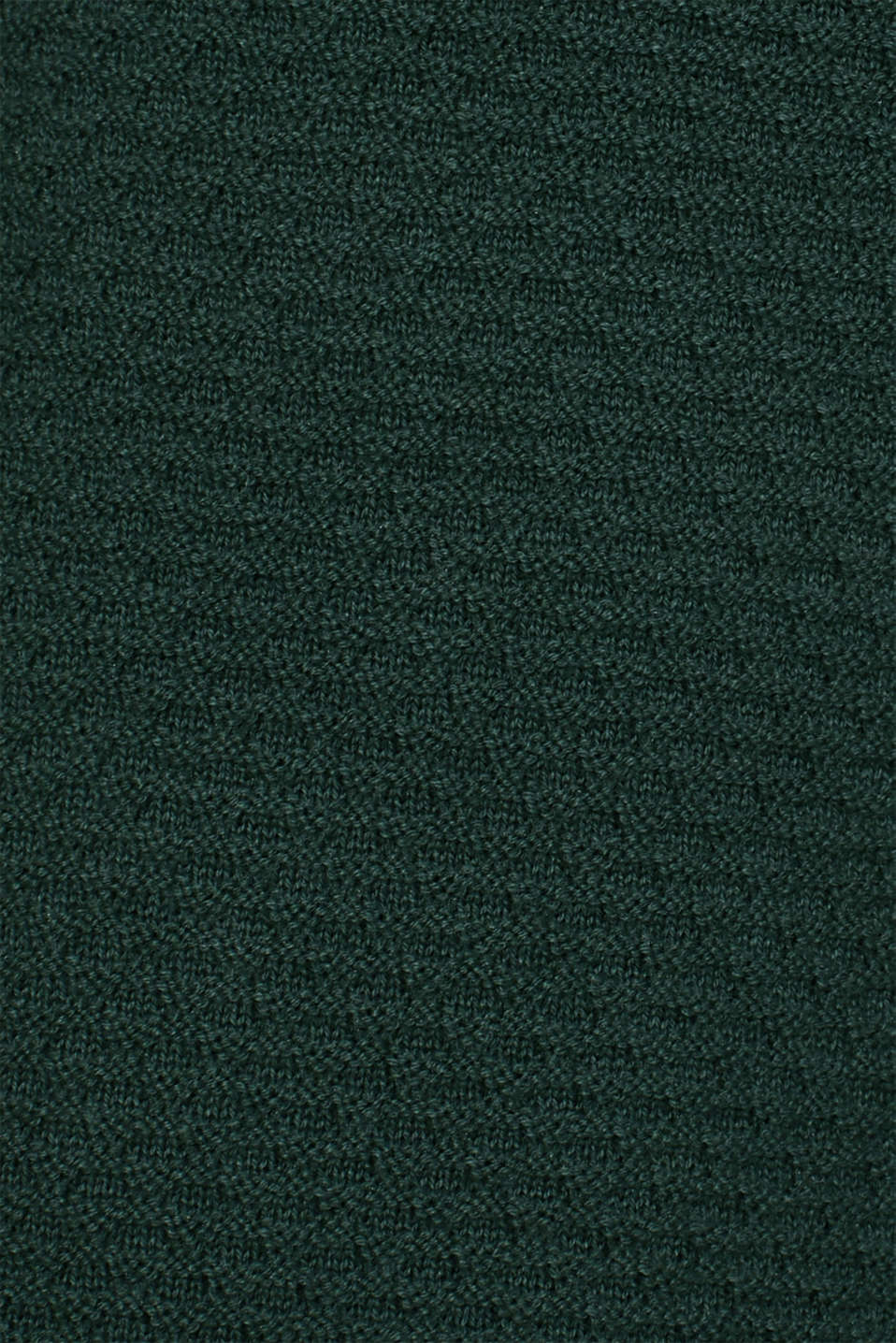 Textured cardigan with a peplum, BOTTLE GREEN, detail image number 4