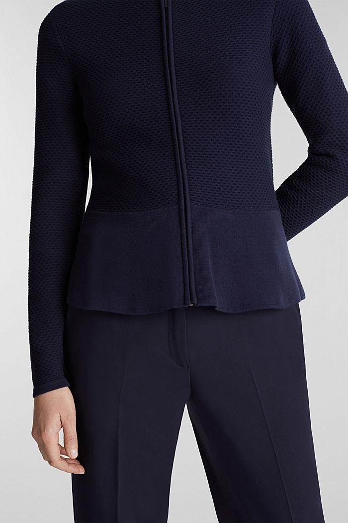 Gestructureerd vest met schootje, NAVY, detail image number 2