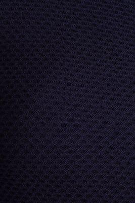 Textured cardigan with a peplum, NAVY, detail