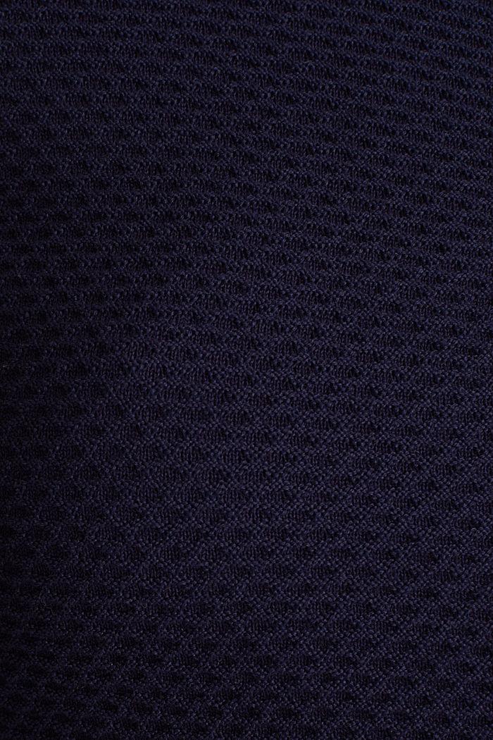 Gestructureerd vest met schootje, NAVY, detail image number 4