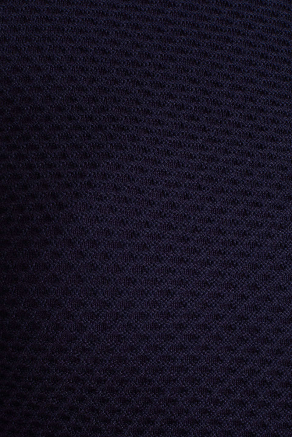 Textured cardigan with a peplum, NAVY, detail image number 4