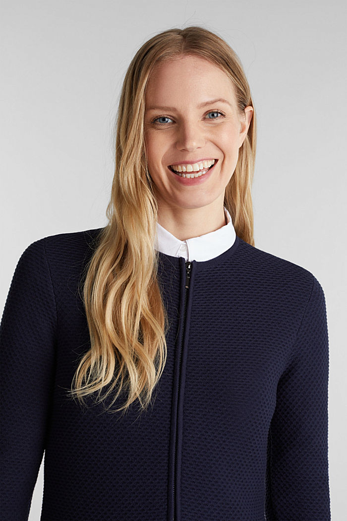 Gestructureerd vest met schootje, NAVY, detail image number 6