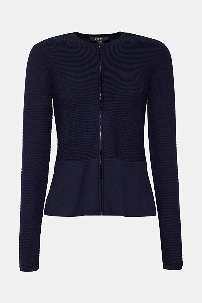 Gestructureerd vest met schootje, NAVY, detail image number 7