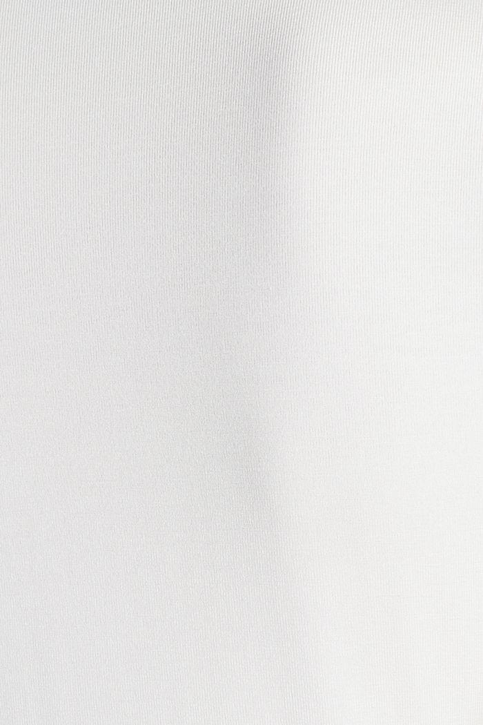 Stretch-Shirt mit Layer-Wickeleffekt, OFF WHITE, detail image number 4