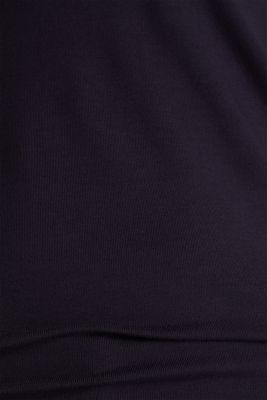 Stretch T-shirt with layered wrap-over effect, NAVY, detail