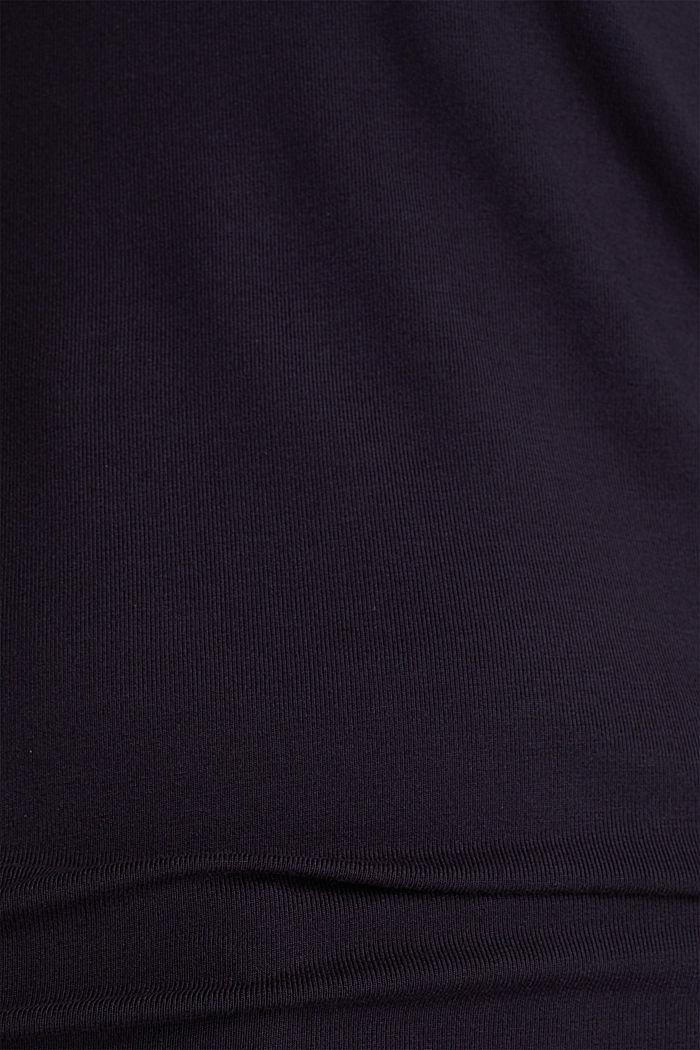 Stretch-Shirt mit Layer-Wickeleffekt, NAVY, detail image number 4