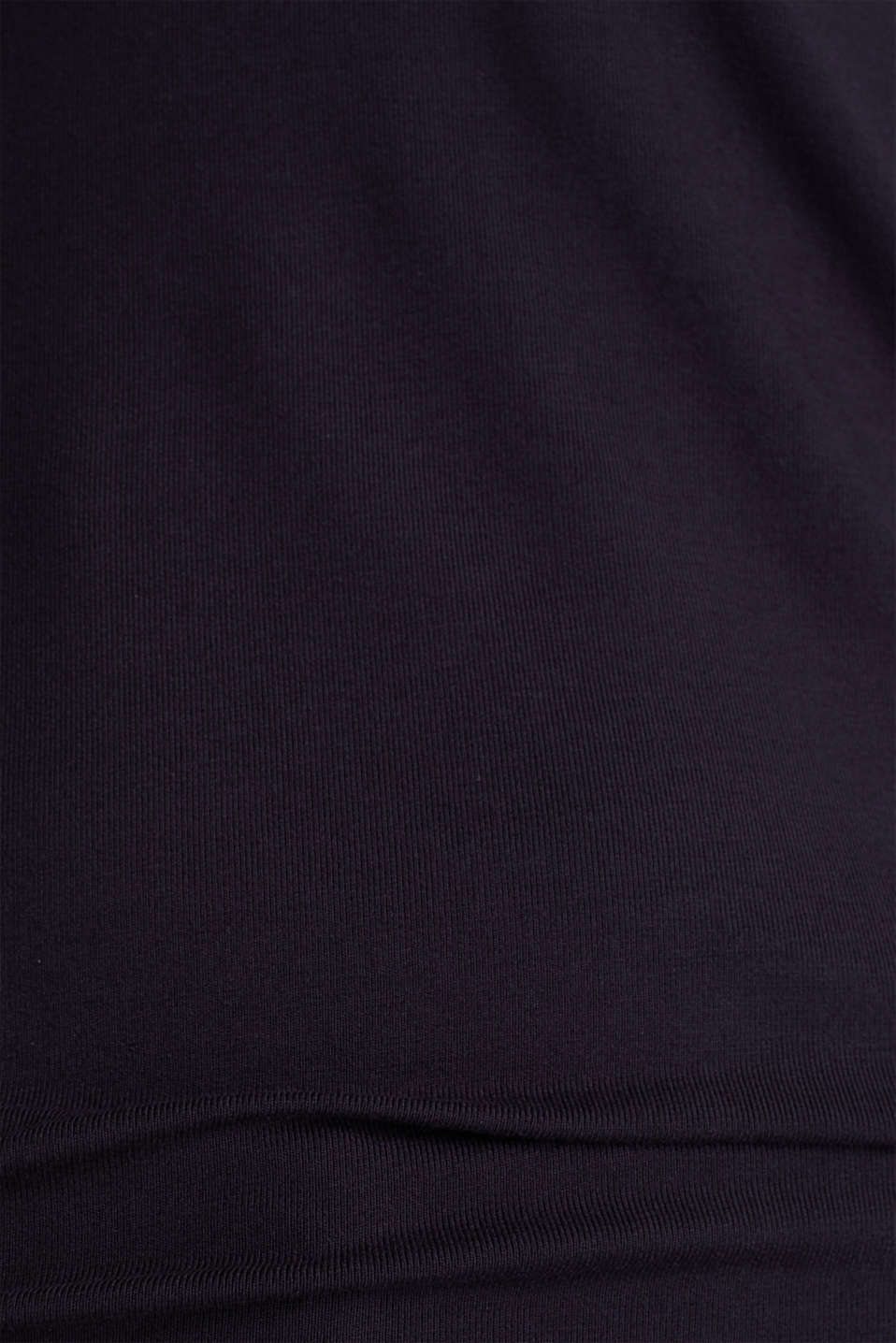 Stretch T-shirt with layered wrap-over effect, NAVY, detail image number 4