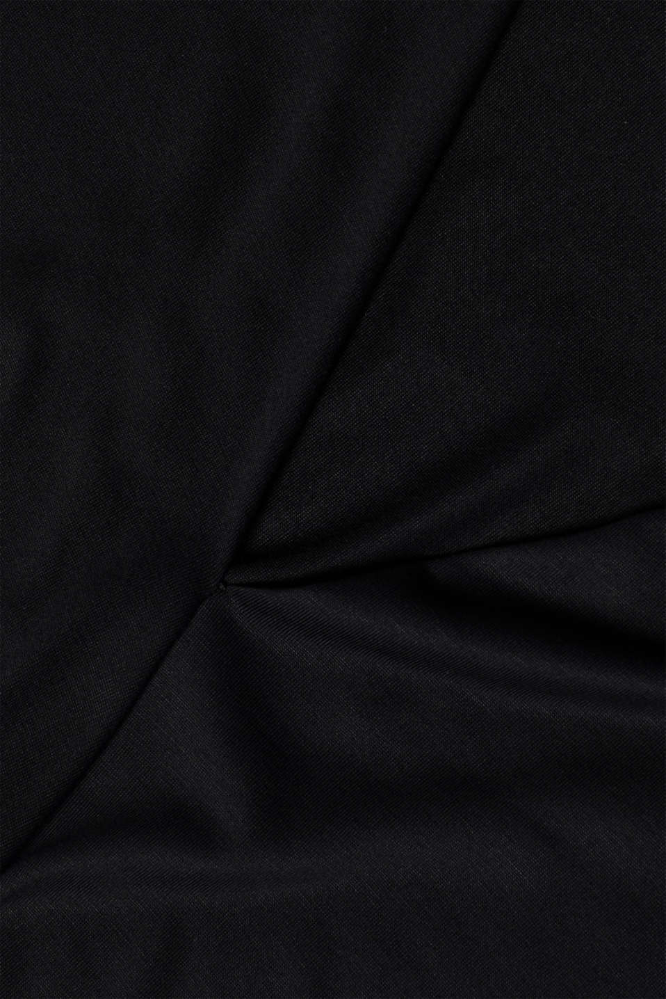 Wrap-over effect T-shirt with an elasticated hem, BLACK, detail image number 4
