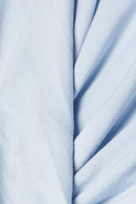 Stretch-Shirt im Wickel-Look mit Schmuck-Detail, PASTEL BLUE, detail