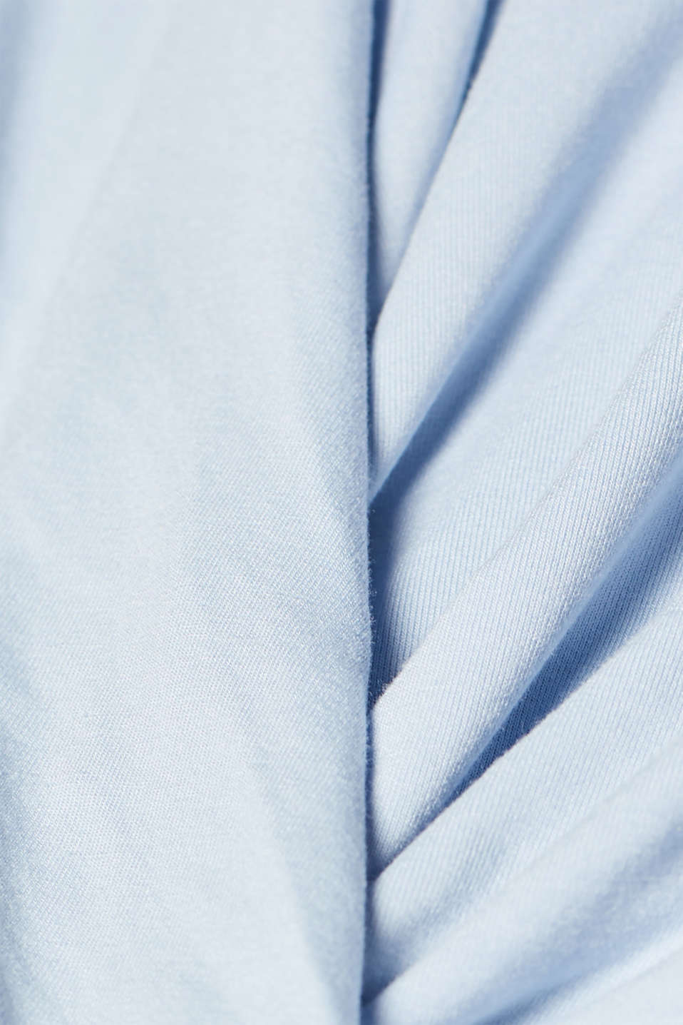 Stretch-Shirt im Wickel-Look mit Schmuck-Detail, PASTEL BLUE, detail image number 4