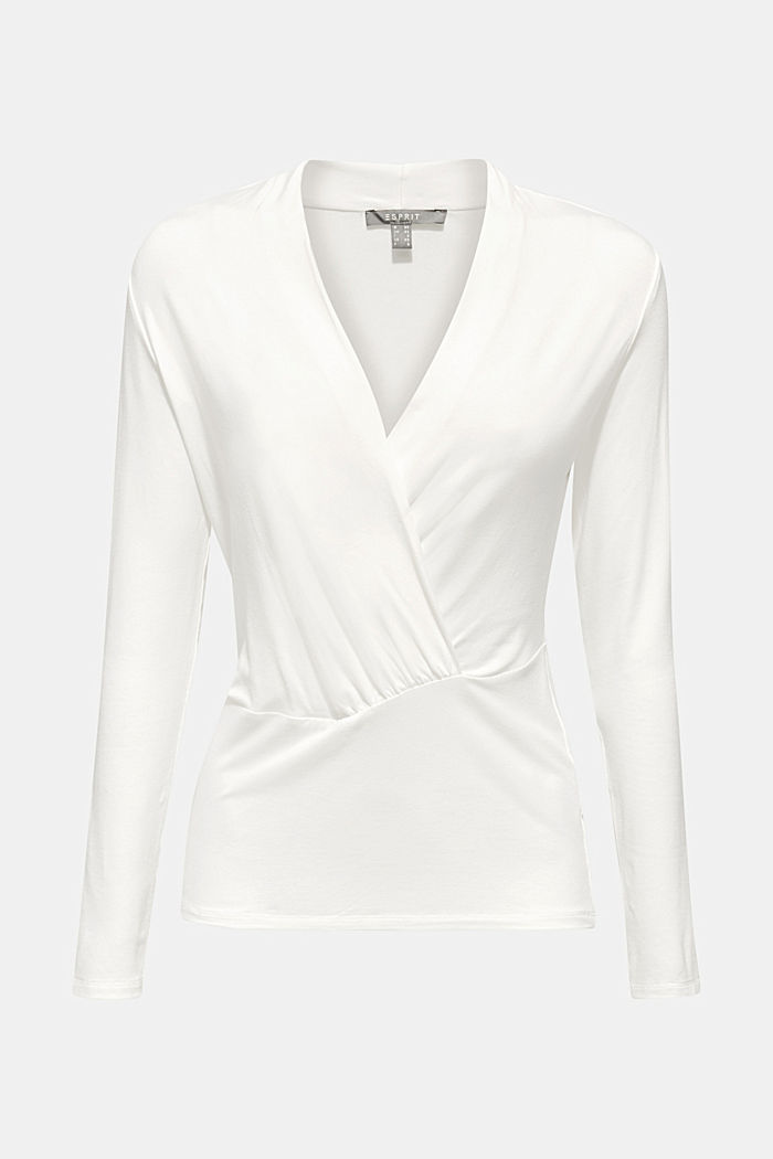 Shirt in wikkellook met stretch, OFF WHITE, detail image number 0