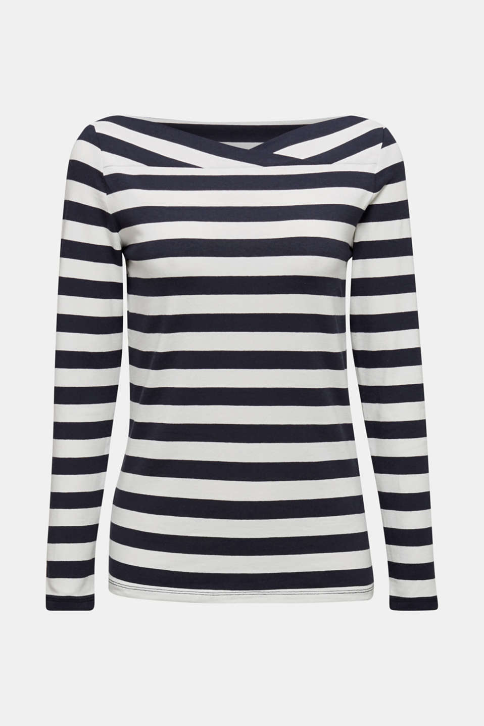 Long sleeve top with a beautiful neckline, NAVY 2, detail image number 5