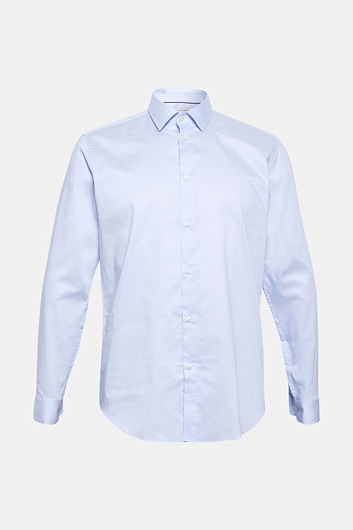 Shirt with mechanical stretch, 100% cotton