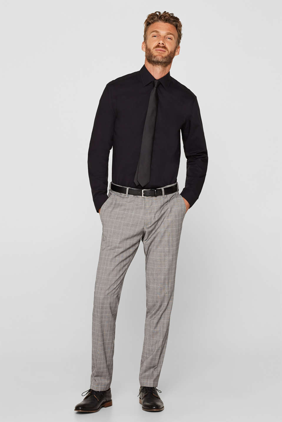Shirts woven Regular fit, BLACK, detail image number 5