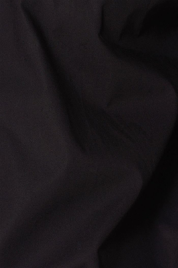 Shirt with mechanical stretch, 100% cotton, BLACK, detail image number 3