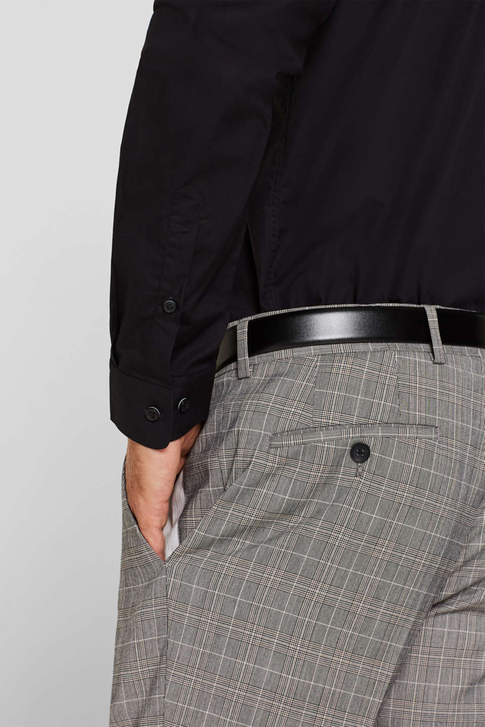 Shirts woven Regular fit, BLACK, detail image number 4