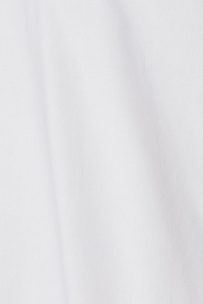 Shirt with mechanical stretch, 100% cotton, WHITE, detail image number 4