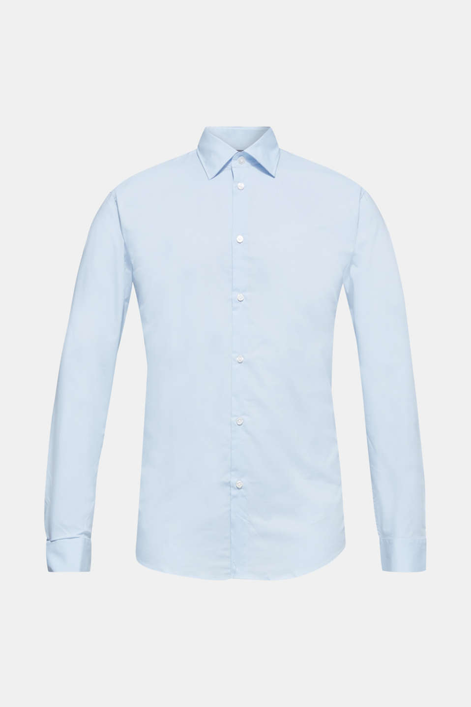 Shirt with mechanical stretch, 100% cotton, LIGHT BLUE, detail image number 7