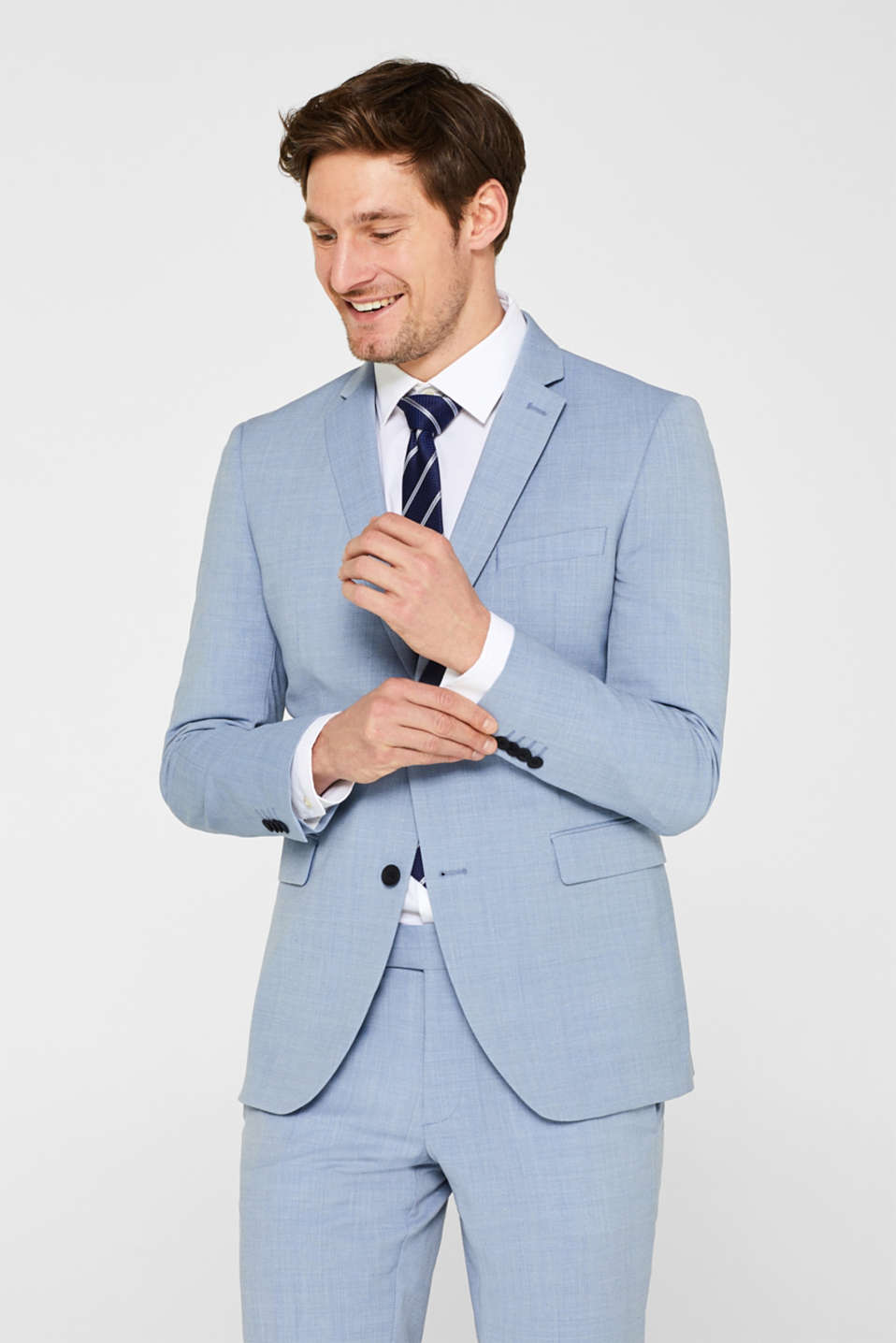Esprit - ACTIVE SUIT mix + match: sports jacket with wool