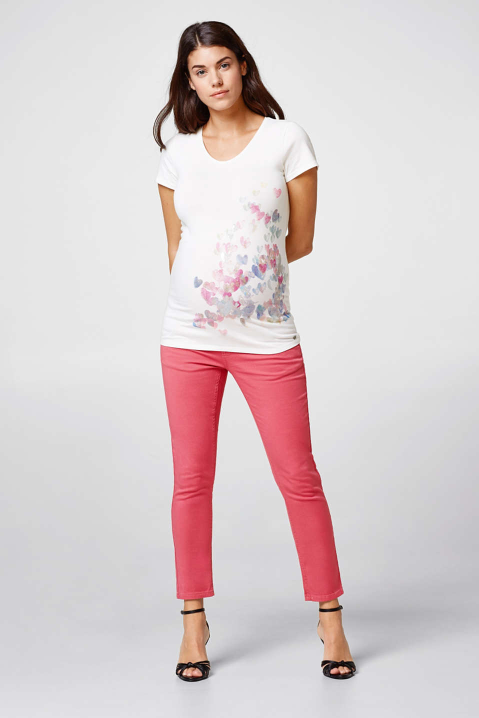 Esprit - Stretch jeans with over-bump waistband