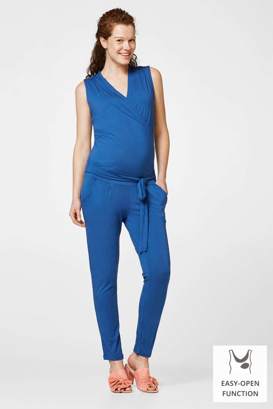Esprit - Stretch jersey jumpsuit for nursing