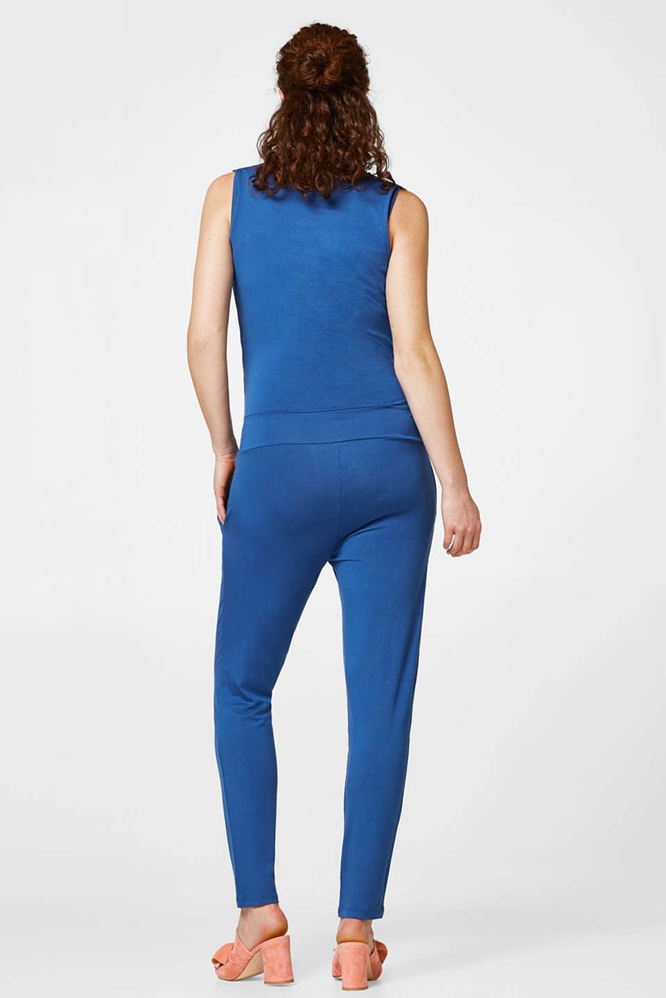 Stretch jersey jumpsuit for nursing