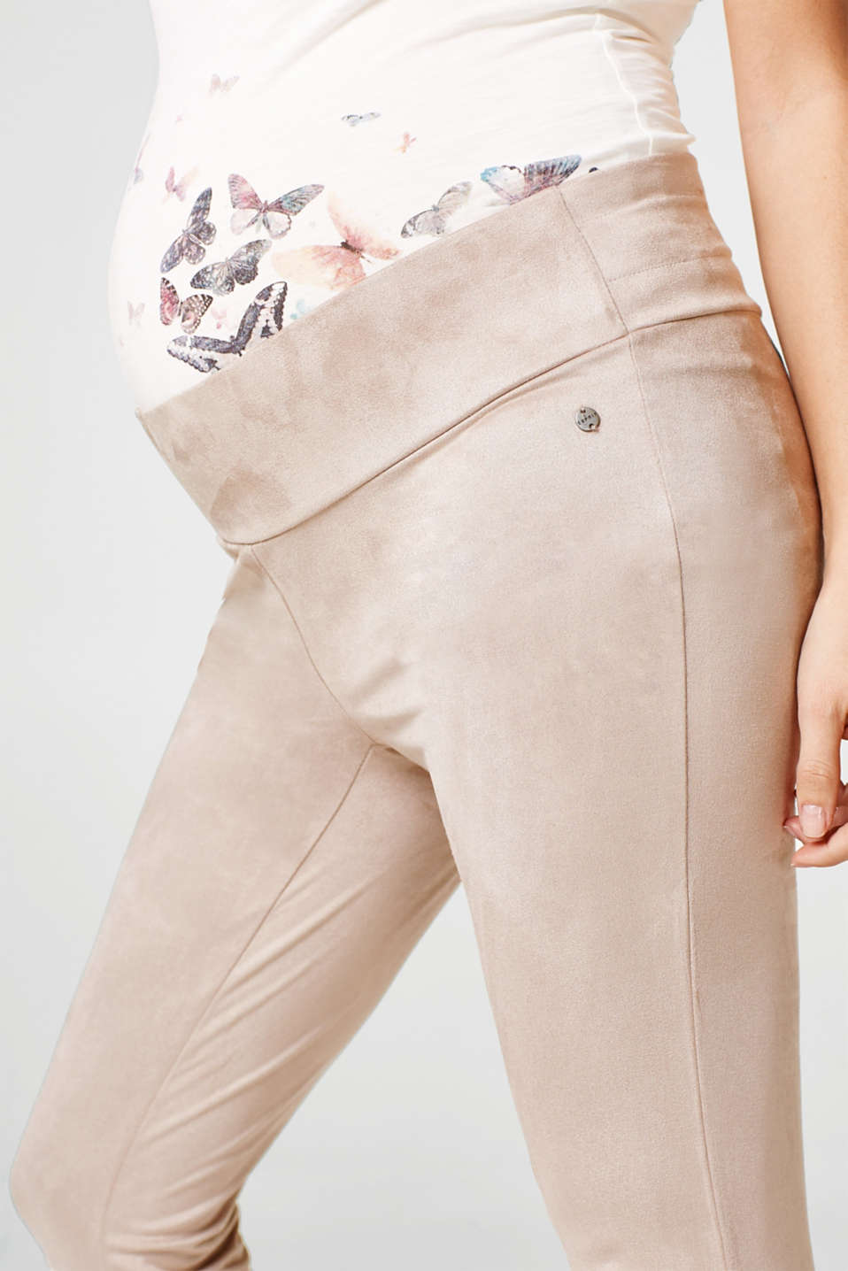 Treggings in similpelle con fascia