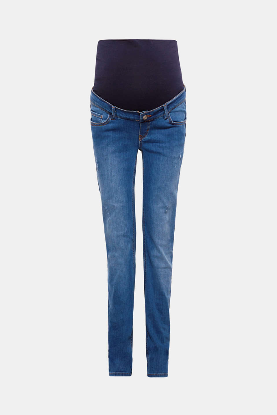 These stretch jeans score points with their casual vintage effects, cool garment wash and timeless, straight cut!