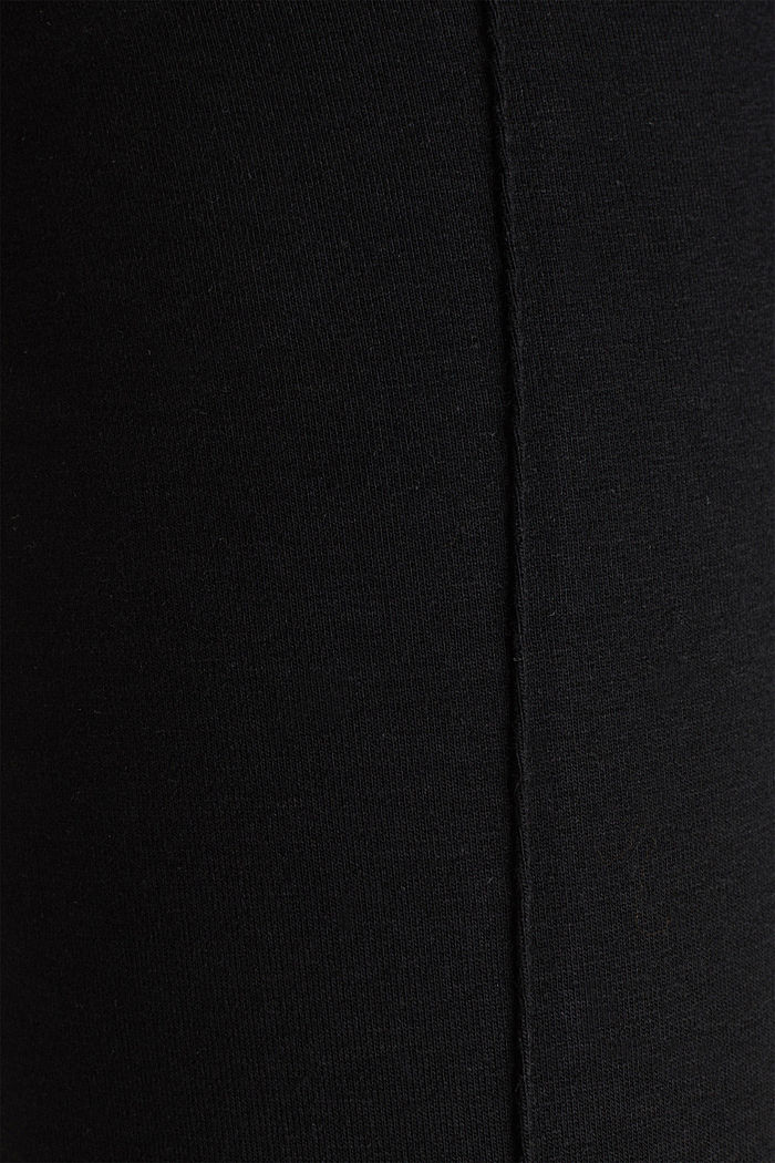 Jersey trousers with an under-bump waistband, BLACK, detail image number 4