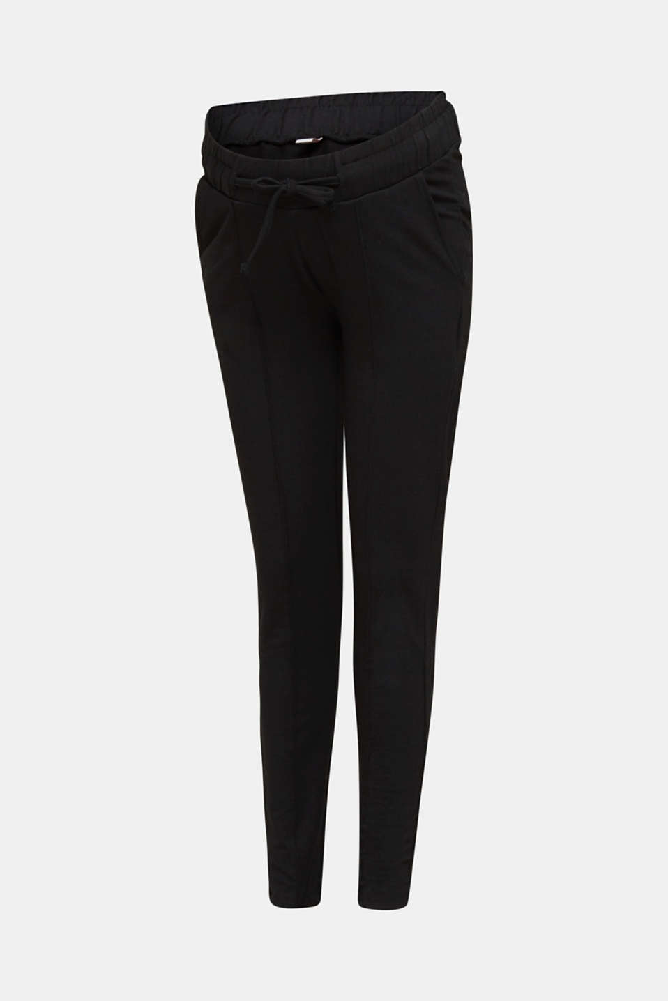 Stretch jersey trousers with under-bump waistband, LCBLACK, detail image number 7