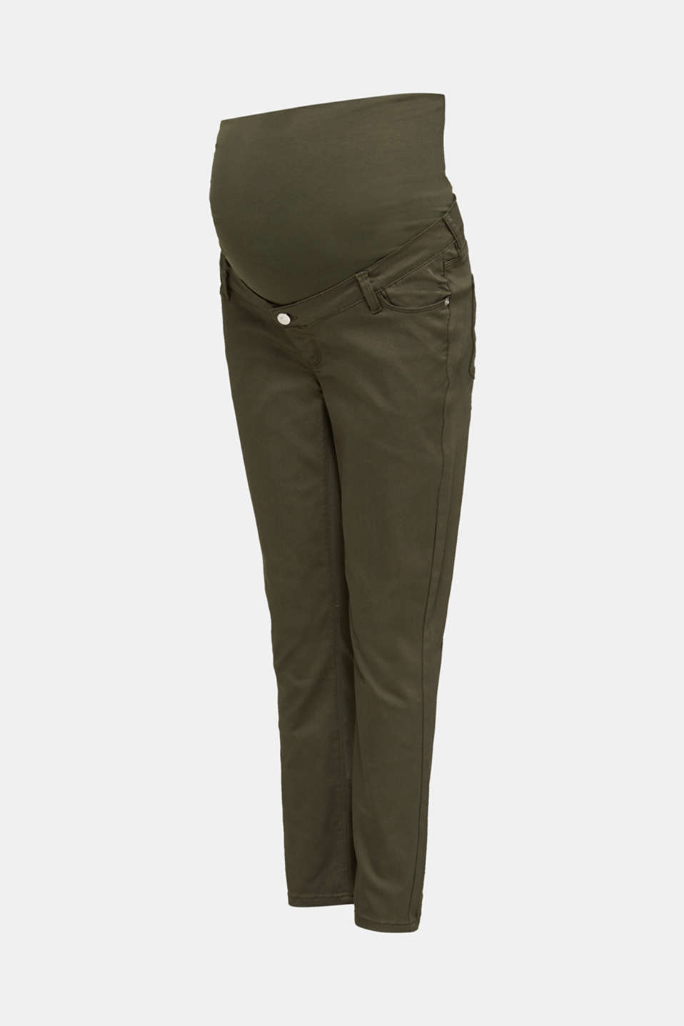 Ankle-length trousers with an over-bump waistband, LCKHAKI GREEN, detail image number 7