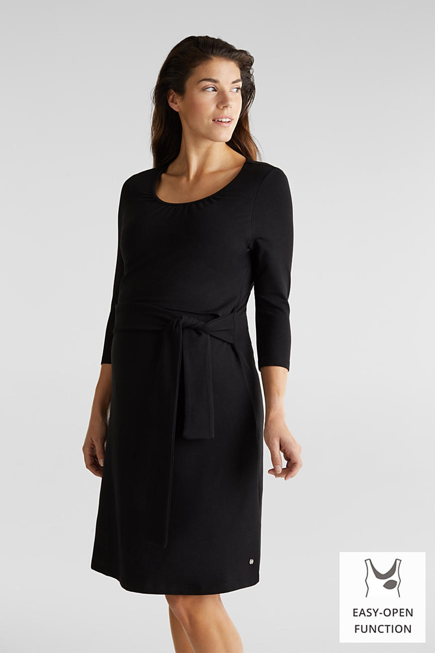 Stretch jersey nursing dress