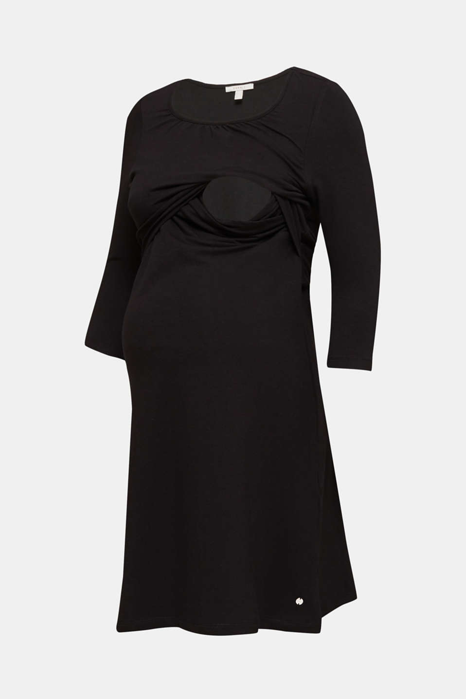 Stretch jersey nursing dress, LCBLACK, detail image number 4