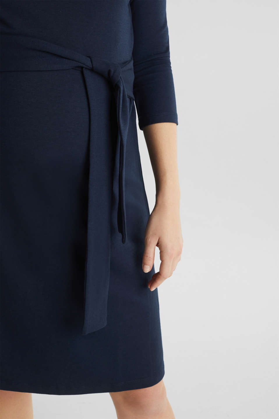 Stretch jersey nursing dress, LCNIGHT BLUE, detail image number 3