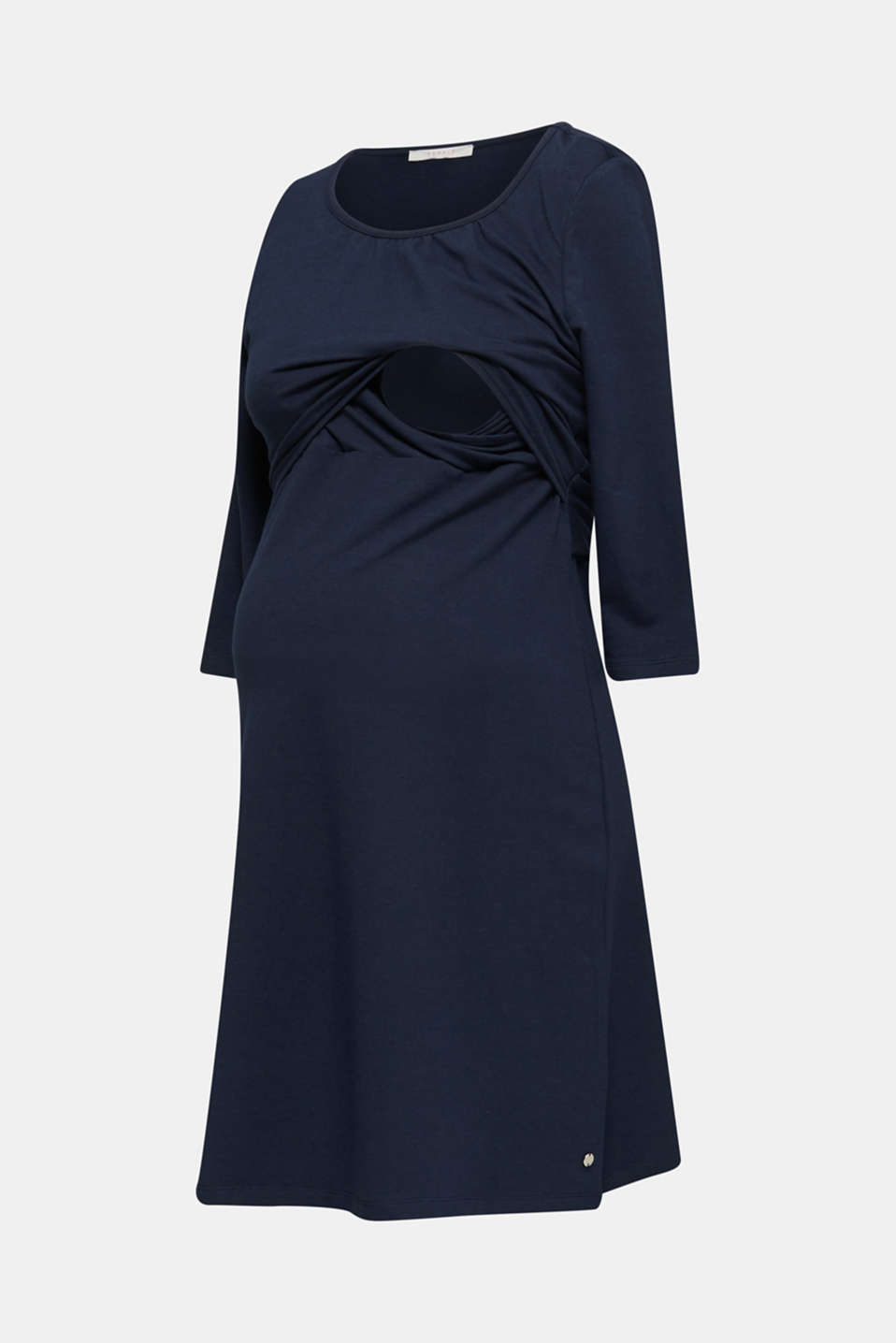 Stretch jersey nursing dress, LCNIGHT BLUE, detail image number 5