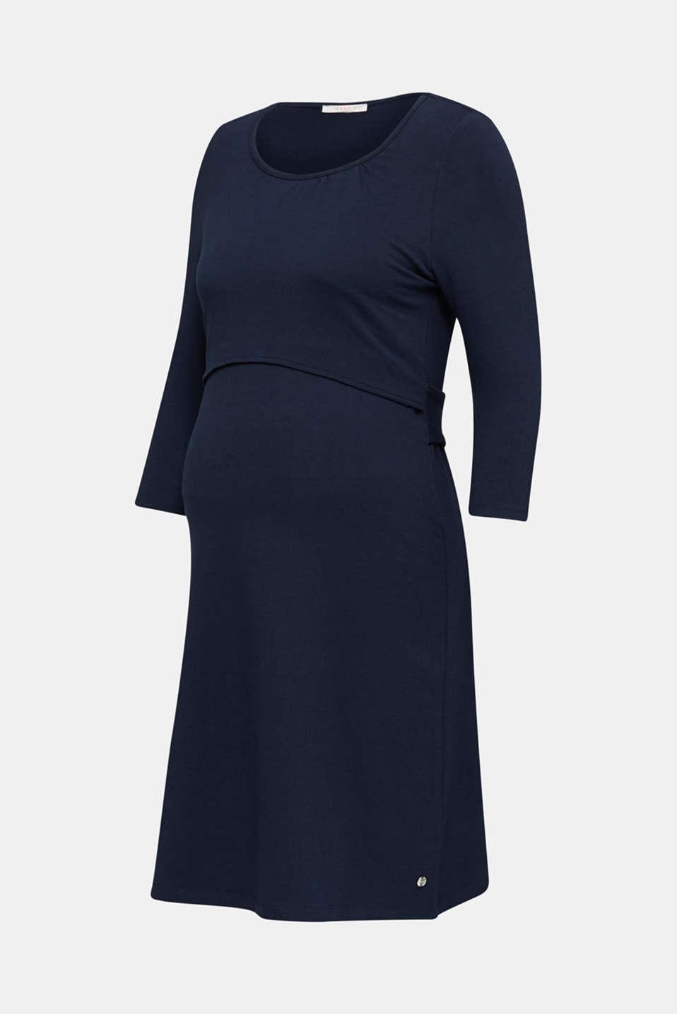 Stretch jersey nursing dress, LCNIGHT BLUE, detail image number 6